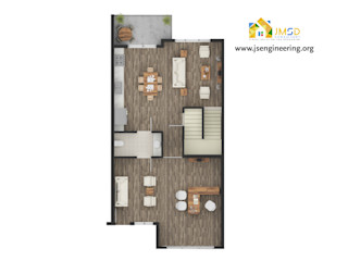 Floor Plan Rendering Services for Real Estate Business JMSD Consultant - 3D Architectural Visualization Studio ArtworkPictures & paintings Wood Brown