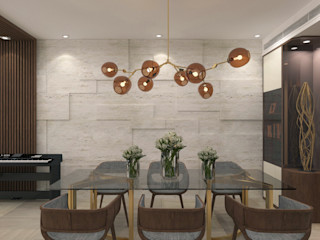 Private Residence   One Beacon Hill   Kowloon Tong, Hong Kong KMok Consulting Limited Modern dining room