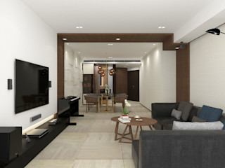 Private Residence   One Beacon Hill   Kowloon Tong, Hong Kong KMok Consulting Limited Modern living room
