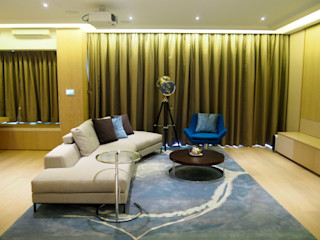 Private Residence   Celestial Heights   Ho Man Tin, Hong Kong KMok Consulting Limited Minimalist living room