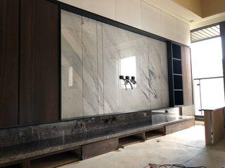 頡樂石材 Living roomTV stands & cabinets Marble