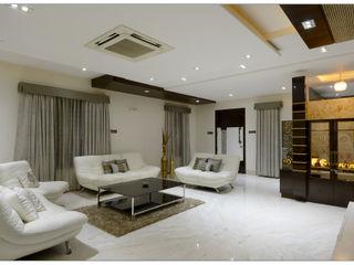 Spacemekk Designers p.LTD Modern living room Marble White