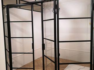 Residential Steel Internal Bi-Folding Doors Urban Steel Designs BedroomAccessories & decoration Metal Black