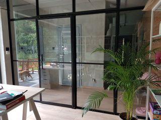 Steel Sliding office separation door and screen. Urban Steel Designs Modern style doors Metal Black
