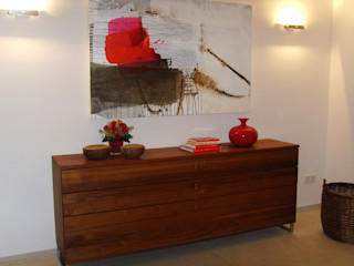 lieber feng shui Koridor & Tangga Modern Kayu Red