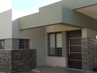 ELVARQUITECTOS 일세대용 주택 알루미늄 / 아연 베이지