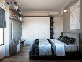 HOÀN THIỆN NỘI THẤT CĂN HỘ CHUNG CƯ MỸ PHÚC 65M2 - 3PN (ANH TÚ - Q.8) Công ty Cổ Phần Nội Thất Mạnh Hệ Phòng ngủ phong cách hiện đại