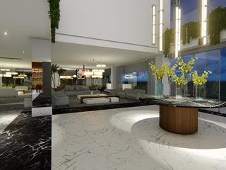 Arquitetura Sônia Beltrão & associados Moderne Hotels Marmor Weiß