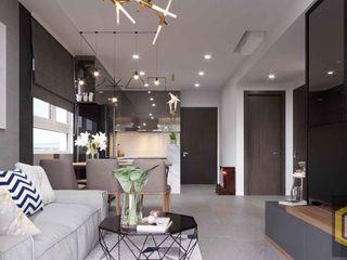 THIẾT KẾ NỘI THẤT CĂN HỘ BOTANICA | An Khoa Design Công ty TNHH Tư vấn thiết kế xây dựng An Khoa Phòng khách