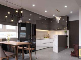 THIẾT KẾ NỘI THẤT CĂN HỘ BOTANICA | An Khoa Design Công ty TNHH Tư vấn thiết kế xây dựng An Khoa Bếp xây sẵn