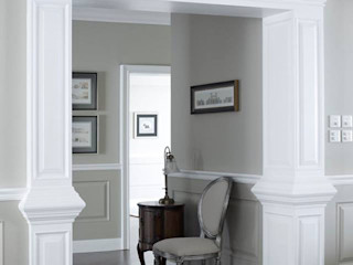 Georgian home –All about graceful details, timeless and elegant simplicity…. JC Vision Classic style corridor, hallway and stairs Wood Grey