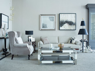 Marriage of contemporary & classic..... JC Vision Modern living room Wood Grey