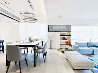 A Square Ltd Modern living room Wood White