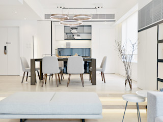 A Square Ltd Modern dining room Wood White