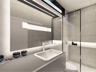 D arquitetura Baños de estilo minimalista