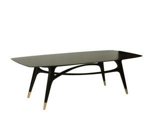 Esstisch aus Eiche, schwarz gebeizt und lackiert Holzarbeiten André Findeisen Einbauküche Massivholz Schwarz