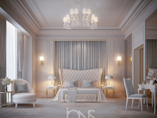 Timeless Bedroom Interior IONS DESIGN Classic style bedroom Solid Wood Multicolored