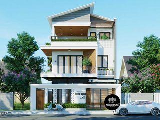 Mẫu thiết kế biệt thự hiện đại 3 tầng đẹp 150m2 tại Tphcm NEOHouse