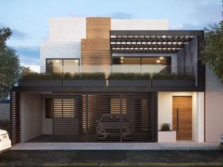 4 + Arquitectura Casas familiares Concreto Branco