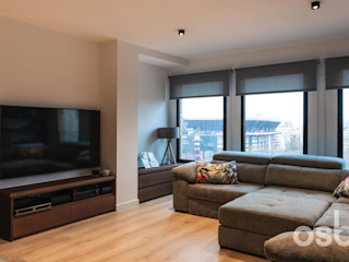 osb arquitectos Living roomTV stands & cabinets Wood effect