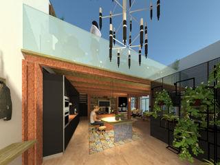 loft ROSA CARBONE DESIGN Ingresso, Corridoio & Scale in stile moderno Legno Marrone