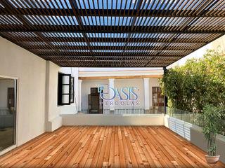 Oasis Pérgolas Balkon, Beranda & Teras Modern