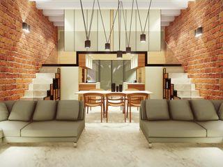 STUDIO ARCHITETTURA SPINONI ROBERTO Ruang Makan Modern