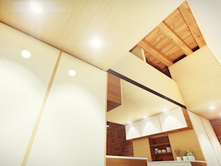 STUDIO ARCHITETTURA SPINONI ROBERTO Dinding & Lantai Modern