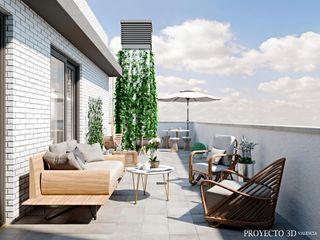 Renders para promoción de viviendas de obra nueva Proyecto 3D Valencia Renders Animaciones 3D Infografias Online Balcones y terrazasAccesorios y decoración