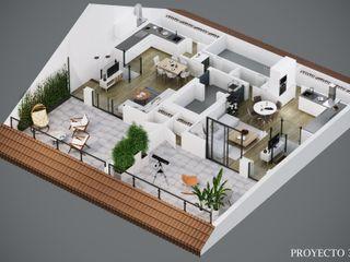 Diseño 3D de planos comerciales para venta de viviendas Proyecto 3D Valencia Renders Animaciones 3D Infografias Online