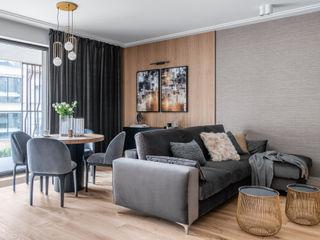 Anna Serafin Architektura Wnętrz Livings de estilo clásico Gris