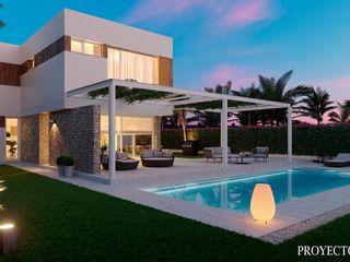 Diseño 3D de renders diurnos y nocturnos para viviendas unifamiliares Proyecto 3D Valencia Renders Animaciones 3D Infografias Online