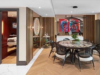 SAVOY HOUSE Esra Kazmirci Mimarlik Modern dining room Wood Black