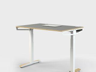 HV-Tisch Pool22.Design ArbeitszimmerSchreibtische Metall Weiß