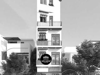 Thiết kế nhà phố hiện đại mặt tiền 4m 5 tầng tại Thủ Đức NEOHouse