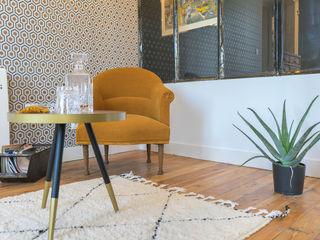 appartement ancien masculin MISS IN SITU Clémence JEANJAN Salon original Cuivre / Bronze / Laiton Jaune