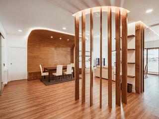 OOIIO Arquitectura Вітальня Інженерне дерево Дерев'яні