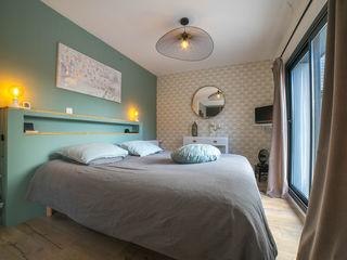 chambre chic et douce MISS IN SITU Clémence JEANJAN Chambre originale Bois Vert
