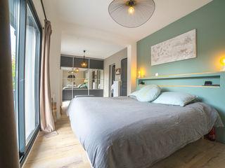 chambre chic et douce MISS IN SITU Clémence JEANJAN Chambre originale Argent/Or Vert