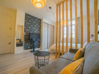 appartement de vacances MISS IN SITU Clémence JEANJAN Salon scandinave