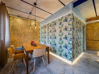 OOIIO Arquitectura Вітальня Керамічні Різнокольорові