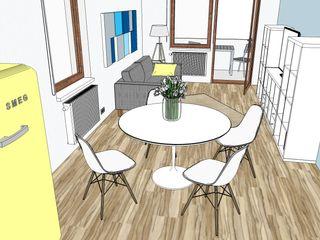 Arch. Sara Pizzo - Studio 1881 Ausgefallene Wohnzimmer Holz Weiß