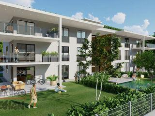 """Projekt mit 3D-Visualisierung von """"Mehrfamilienhaus"""" MITKO DESIGN Mehrfamilienhaus"""
