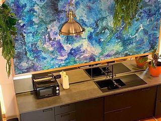Casa vacanze mansardata 160 MQ Dr-Z Architects Cucina attrezzata