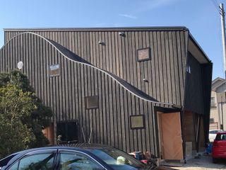 株式会社高野設計工房 Scandinavian style houses Wood Black