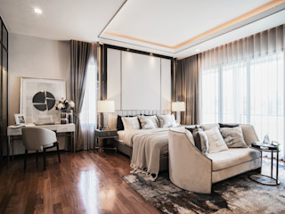 Show house The pavilla residence Master and Sub master bedroom-hypestudio Hypestudio ห้องนอนขนาดเล็ก ไม้ Brown