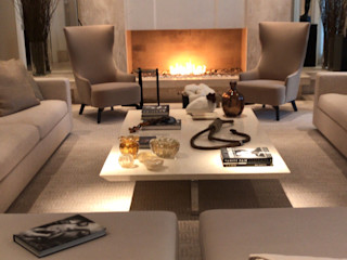 Projeto na Art Basel - Miami RUTE STEDILE INTERIORES Salas de estar modernas