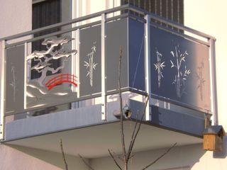 Japanisches Edelstahl Balkongeländer. Edelstahl Atelier Crouse: Balkon