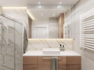 Wkwadrat Architekt Wnętrz Toruń Modern bathroom Wood Wood effect