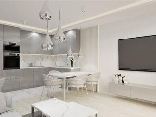 Wkwadrat Architekt Wnętrz Toruń Minimalist dining room MDF White